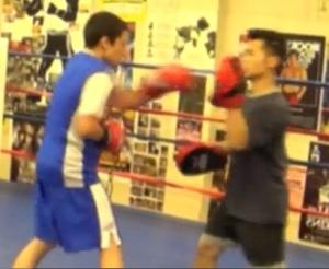 Boxing Strategist Chi Tao Li Mitt Work